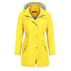 Yellow waterproof Windbreaker Coat (12AE)